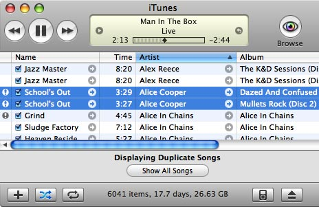 Dealing with iTunes Duplicates 2
