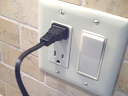 plug in AC outlet