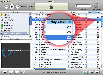 Resetting the Play Count in iTunes 1