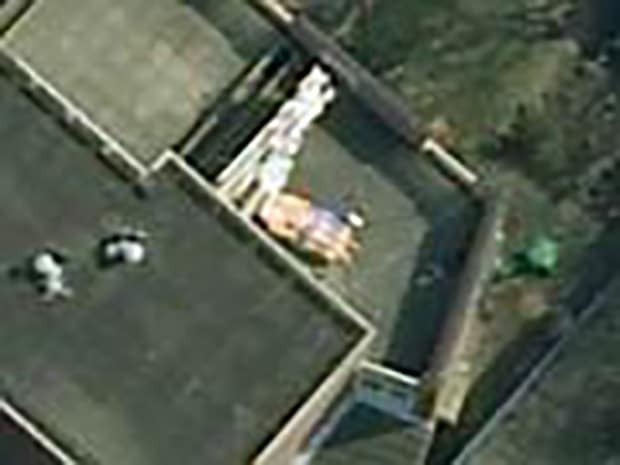 nude sunbather google earth
