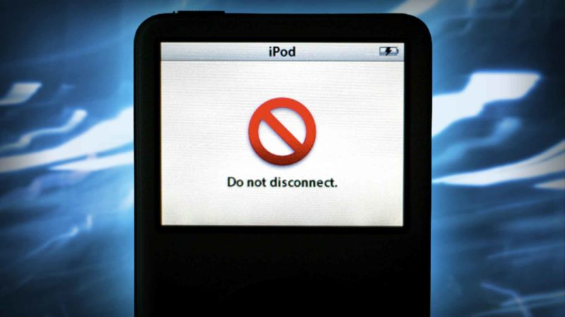 iPod DO NOT DISCONNECT Message Won't Go Away