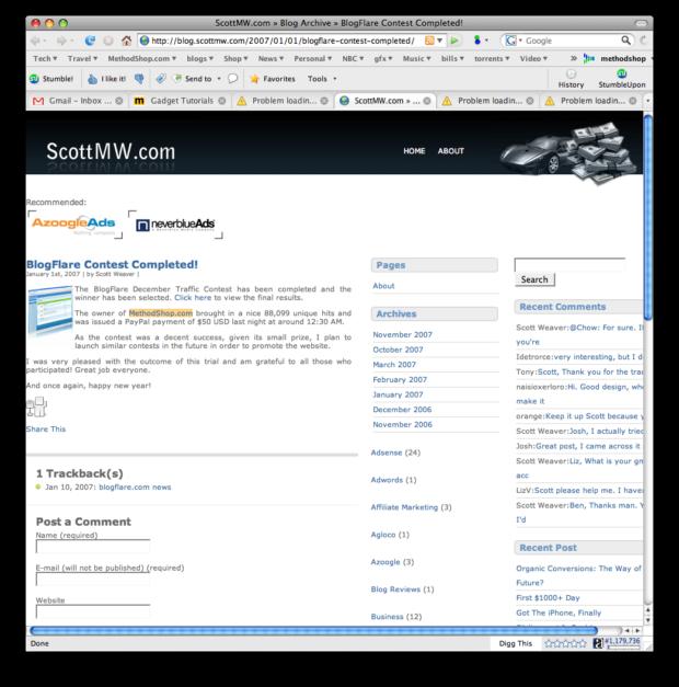 Blogflare Blog Traffic Contest
