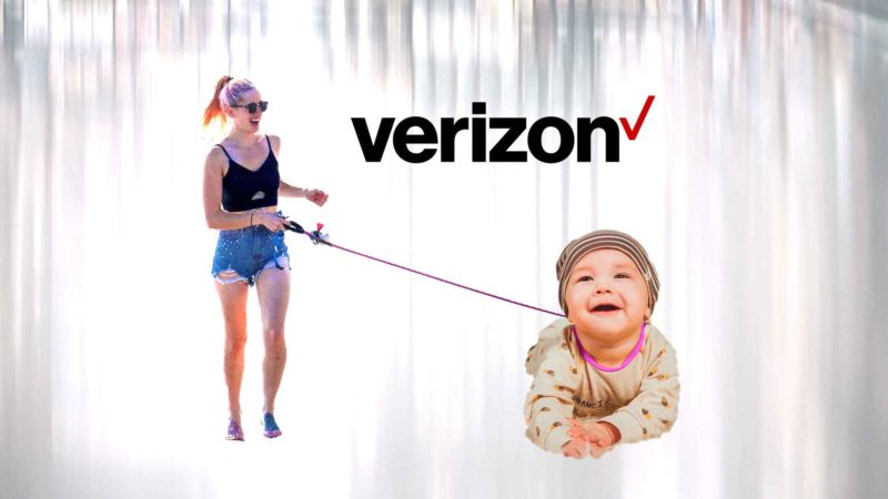 Woman Drags Child On Leash Through Verizon Store [video]