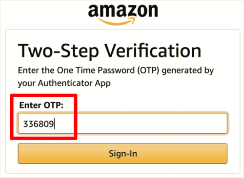 Amazon Two-Step Verification