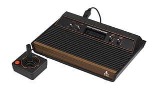 "English: An Atari 2600 four-switch ""wood ..."