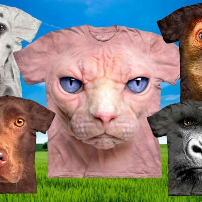 Incredibly Realistic 3D Animal T-Shirts. Don't Worry They Won't Bite!