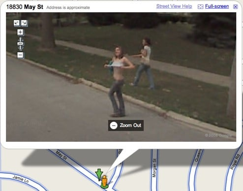 Illinois Woman Captured By Google'S Cameras Exposing Herself
