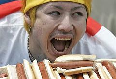 Takeru Kobayashi At Nathan's Coney Island Hot Dog-Eating Contest