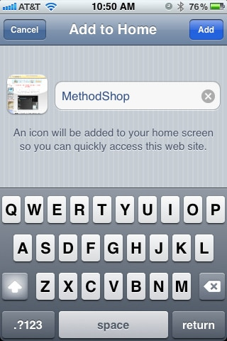 How to Add an icon to your iPhone's home screen