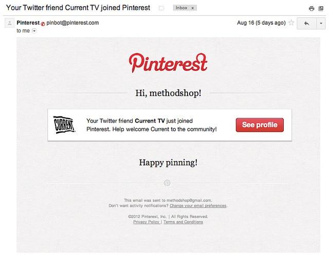Current TV Joins Pinterest
