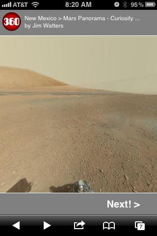 Explore Mars Using Your iPhone or iPad [panorama]