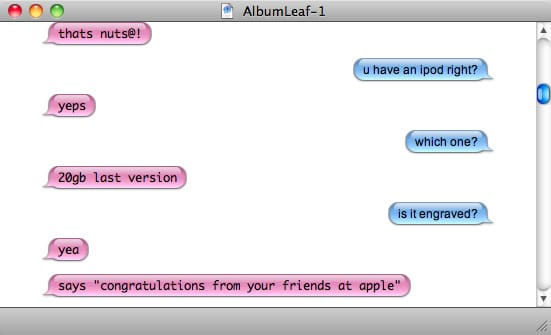 Screenshot of an iChat interview with Jimmy LaValle