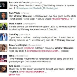 The Internet's Emotional Reaction to Whitney Houston's Death