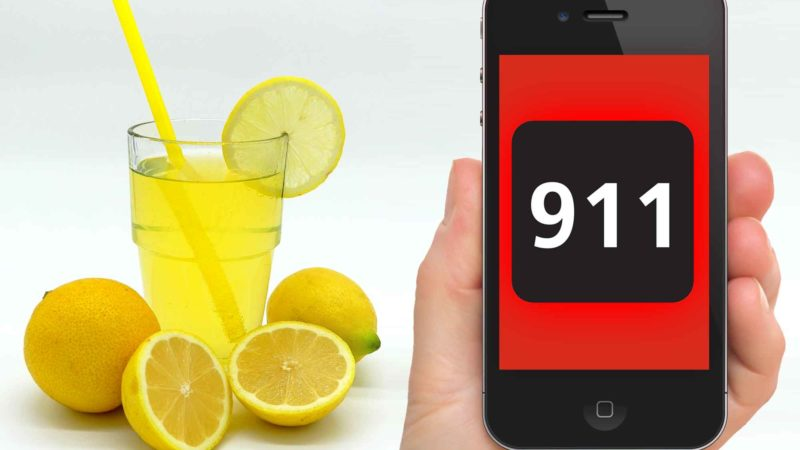Man Calls 911 To Report Lemonade Shortage