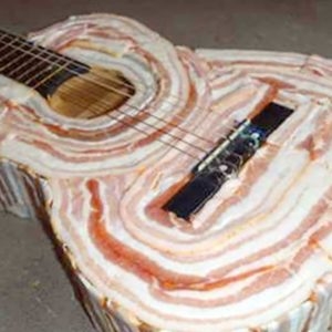 This Acoustic Bacon Guitar Looks Delicious... Even Though It's Raw