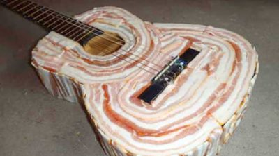 Acoustic Bacon Guitar