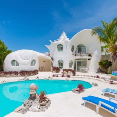 The Seashell House - A Unique Airbnb Rental In ISLA MUJERES, Mexico