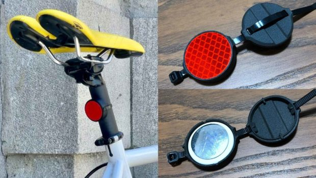 Airtag Mount Disguised As A Bike Reflector