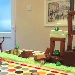This Playable Angry Birds Cake Is Almost Too Much Fun To Eat