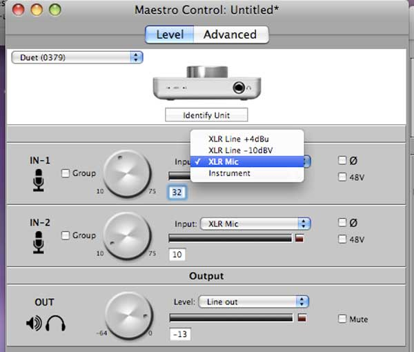 Apogee Duet Software: Maestro Control