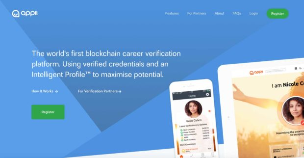APPII - Blockchain Verified Resumes