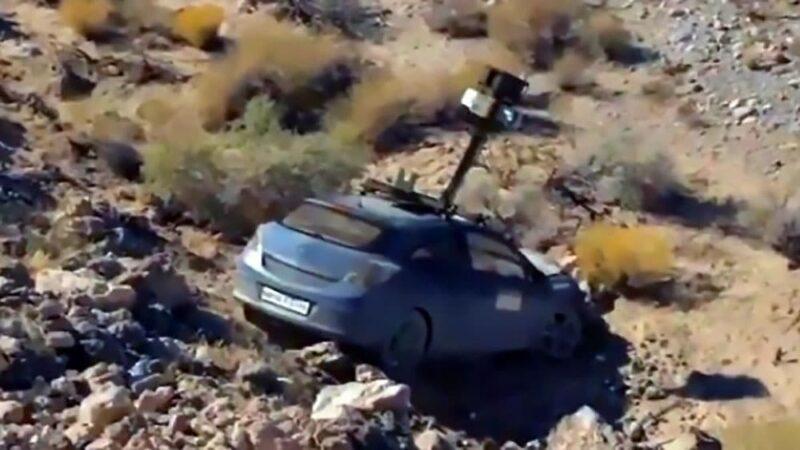 Apple Maps Car Crashed