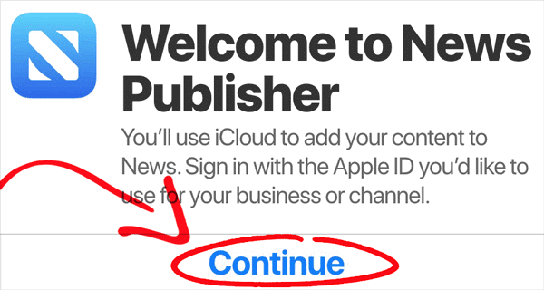 Apple News Developer Sign Up Page