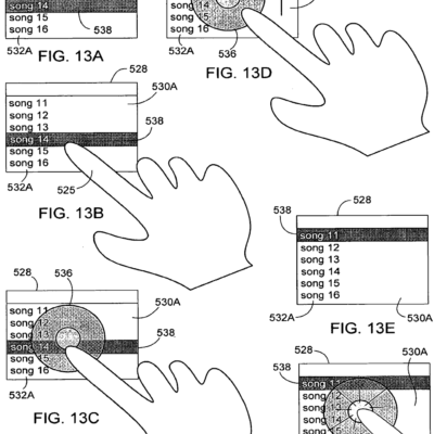 Apple Files Touch Sensitive Patent Documents For Next Generation iPod