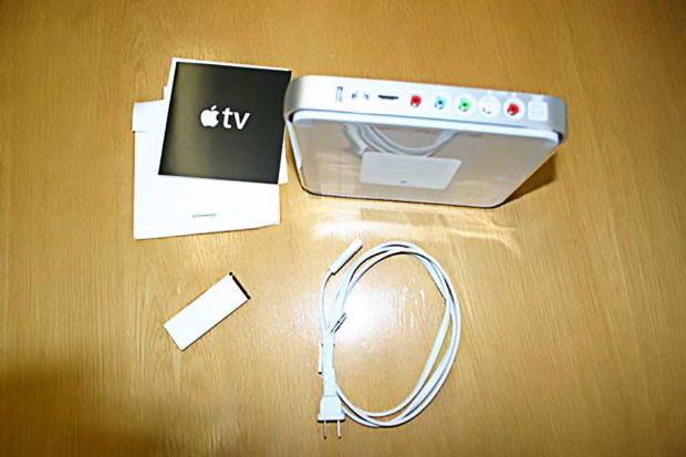First Generation Apple TV Unboxing - Back View