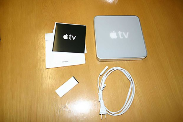 First Generation Apple TV Unboxing - Top