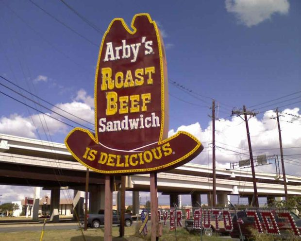 Arby's Roast Beef Sandwich Sign