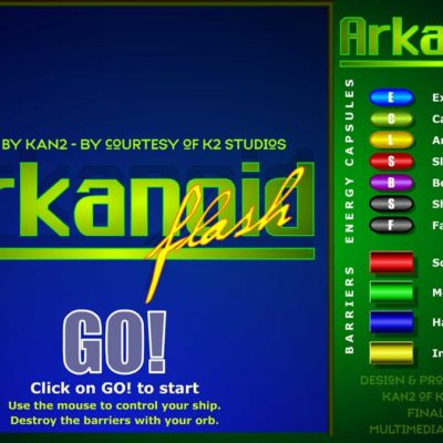 Arkanoid- Homebrew Version