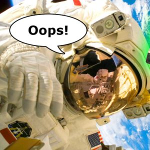 Oops! Astronaut Loses Camera During Spacewalk