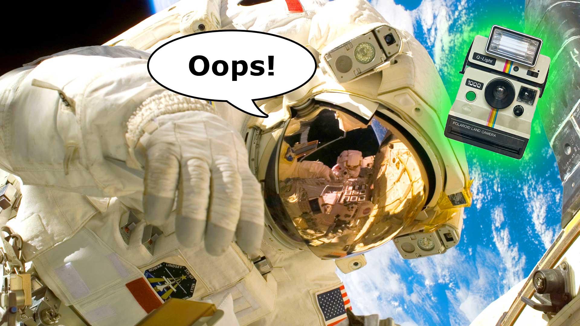 Astronaut Loses Camera During Spacewalk