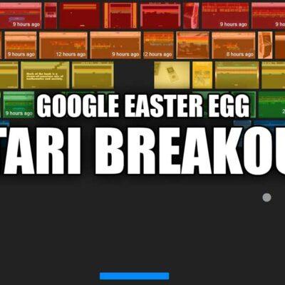 Atari Breakout Easter Egg