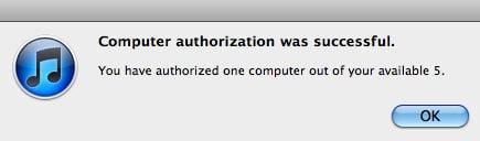 Itunes Authorization Successful