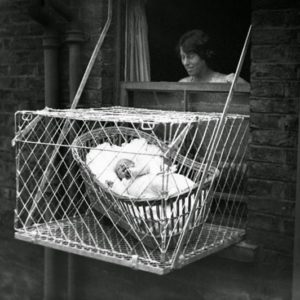 Insane 1930s Invention: Outdoor Baby Cages
