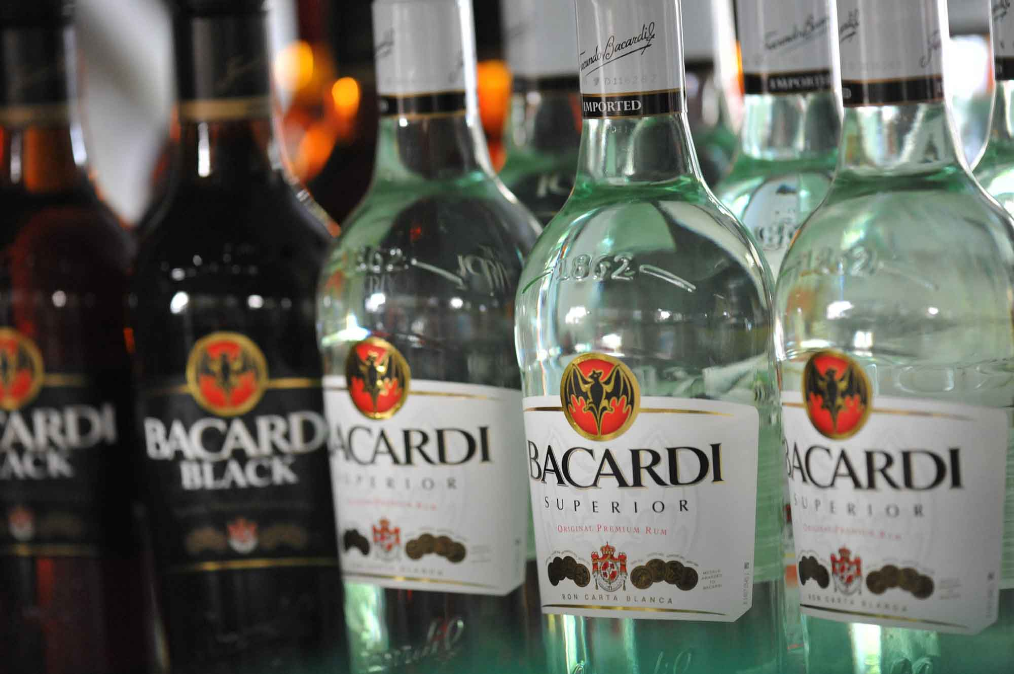 Bottles Of Bacardi Rum