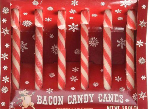 Bacon Candy Canes - Bacon Novelty Gifts