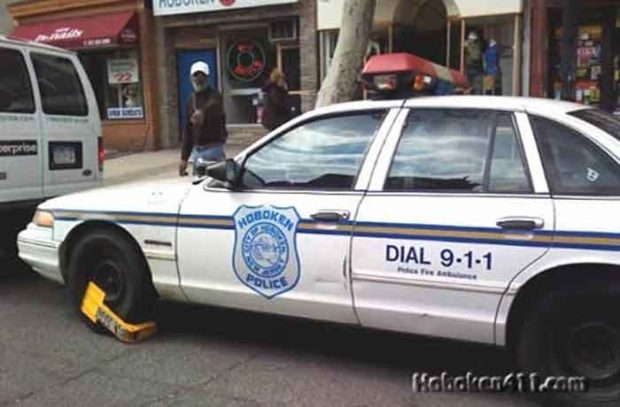 Hoboken Police Car Booted