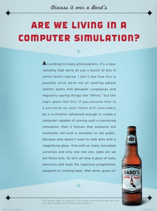 Bard'S Beer: Computer Simulation