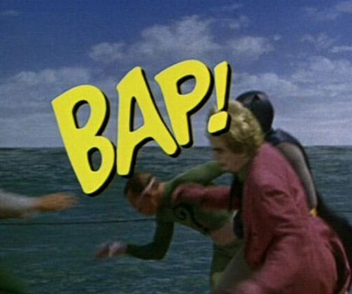 &Quot;Bap!&Quot; - An Example Of How Batman Fight Words Were Used In The 1966 Batman Tv Series