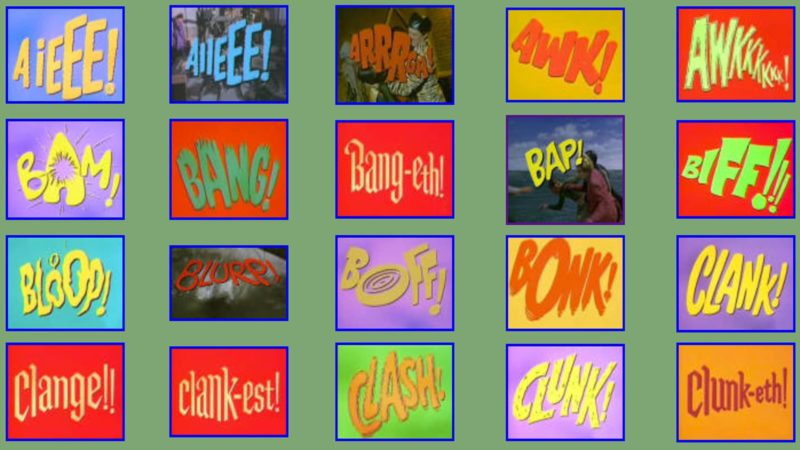 Batman Fight Graphics From The 1960s TV Show