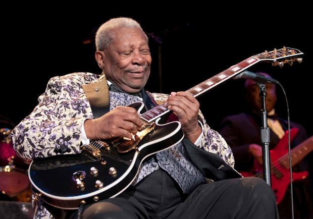 B.b. King Playing His Famous Guitar Lucille