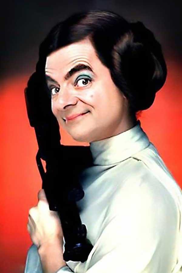 Mr. Beania: Mr. Bean As Princess Leia
