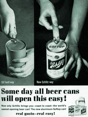 New Schlitz Way Of Opening Beer Cans