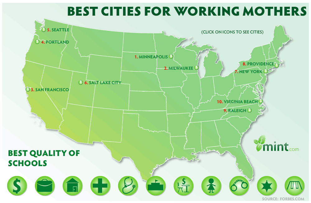 Best Cities In America For Working Mothers: Best Quality Of Schools