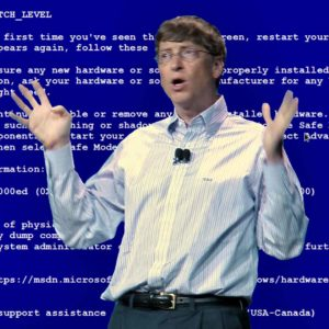 Bill Gates Gets A BSOD Error During His CES Keynote, Again (2005)
