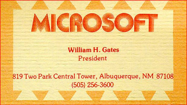 Bill Gates Business Card - Famous Business Cards From Ceos &Amp; Tech Leaders
