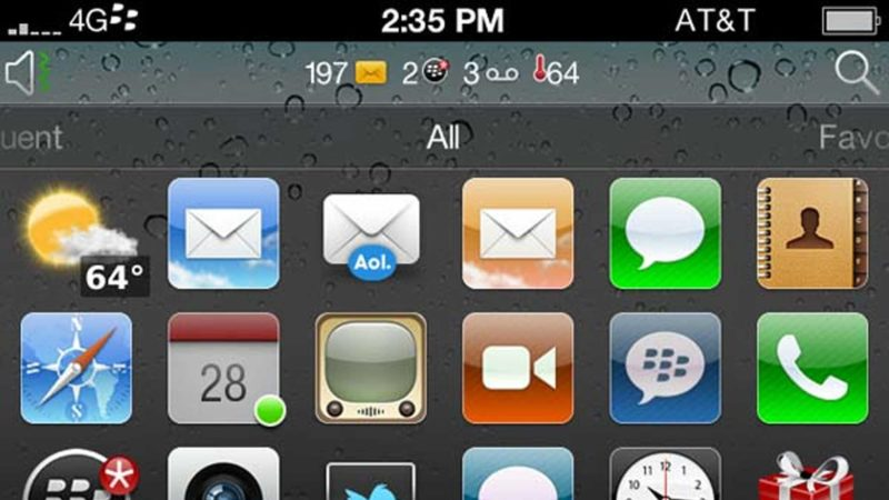 Blackberry iPhone Theme